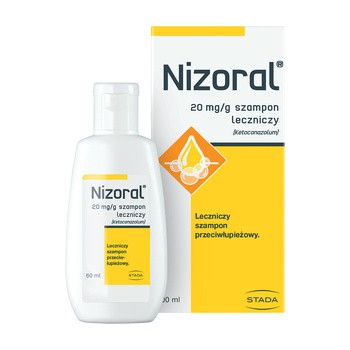 Nizoral, 20 mg/g, szampon leczniczy, 60 ml (butelka)