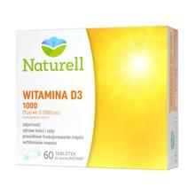 Naturell Witamina D3 1000, tabletki do ssania, 60 szt.