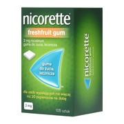 Nicorette FreshFruit Gum, 2 mg, guma do żucia, 105 szt.
