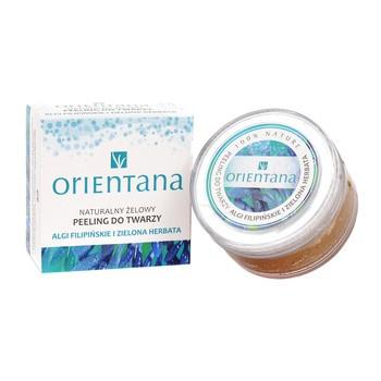 Orientana, naturalny żelowy peeling do twarzy, algi filipińskie i zielona herbata, 50 g
