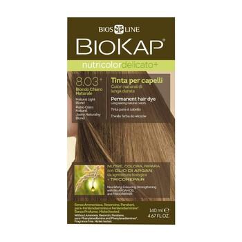 Biokap Nutricolor Delicato+, farba do włosów, 8.03 jasny naturalny blond, 140 ml