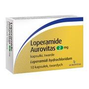 Loperamide Aurovitas, 2 mg, kapsułki twarde, 10 szt.