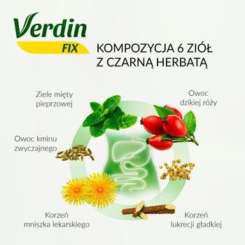 Verdin fix z czarną herbatą, zioła do zaparzania, saszetki, 20 szt.