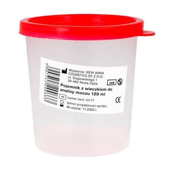 Pojemnik na mocz z wieczkiem, 120 ml