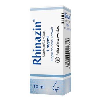 Rhinazin, 1 mg/ml, krople do nosa, 10 ml