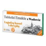 Tabletki Emskie z Wadowic, tabletki do ssania, o smaku pomarańczowym, 12 szt.
