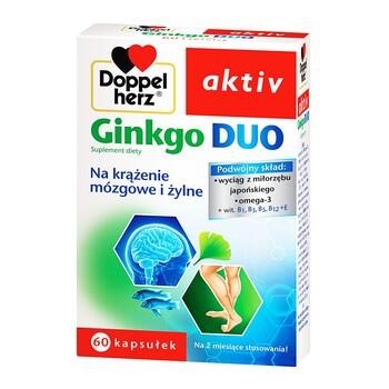 Doppelherz aktiv Ginkgo Duo, kapsułki, 60 szt.