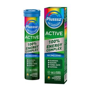 Plusssz Active 100% Energy Complex, tabletki musujące, 20 szt.