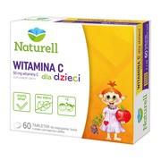 Naturell Witamina C dla dzieci, tabletki do żucia i rozgryzania, 60 szt.