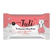 Luba Tuli, nawilżany papier toaletowy, 97% woda i kwas mlekowy, 50 szt.