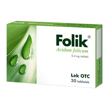 Folik, 0,4 mg, tabletki, 30 szt.