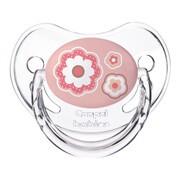 Canpol Newborn Baby, silikonowy, anatomiczny smoczek uspokajający, różowy, 18m+, 1 szt.