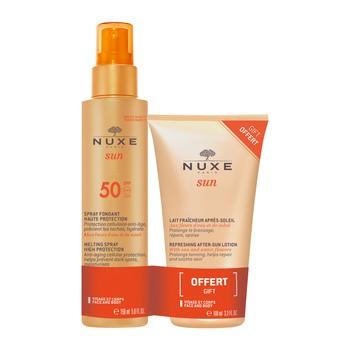 Zestaw Promocyjny Nuxe Sun, mleczko do opalania SPF 50, 150 ml + orzeźwiający balsam po opalaniu, 100 ml GRATIS