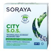 Soraya CITY S.O.S., nawilżający krem-tarcza do skóry normalnej i mieszanej na dzień, 50 ml