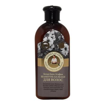 Receptury Babuszki Agafii, szampon-balsam do włosów, biała bania Agafii, 350 ml