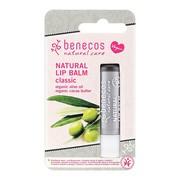 Benecos Natural Lip, balsam, do ust, Klasyczny, 4,8 g