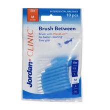 Jordan Brush Between, szczoteczki do czyszczenia przestrzeni międzyzębowych, M, 10 szt.