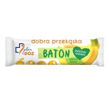 Plan by DOZ, Baton owocowo-owsiany, jabłko banan, 40 g