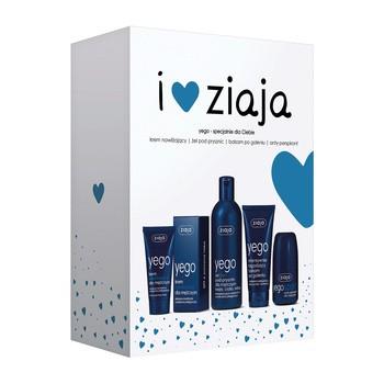 Zestaw Promocyjny Ziaja Yego, krem nawilżający, 50 ml + żel pod prysznic, 200 ml + balsam po goleniu, 75 ml + antyperspirant Yego Sport, 60 ml