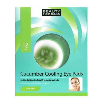 Beauty Formulas, ogórkowe chłodzące płatki pod oczy, 12 szt.