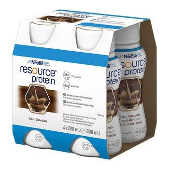 Resource Protein, płyn o smaku czekoladowym, 200 ml, 4 szt.