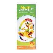 Multivitamol 1+, syrop witaminowy z żelazem, 500 ml