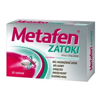 Metafen Zatoki, 200mg+30mg, tabletki powlekane, 20 szt.