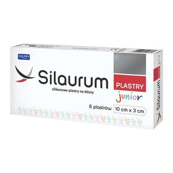 Silaurum Junior, plastry silikonowe na blizny dla dzieci, 10cm x 3cm, 6 szt.