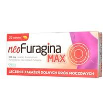 NeoFuragina Max, 100 mg, tabletki, 25 szt.