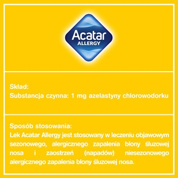 Acatar Allergy, 1 mg/ml, aerozol do nosa, 10 ml