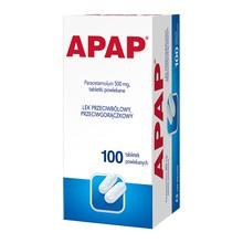 Apap, 500 mg, tabletki powlekane, 100 szt.