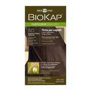 Biokap Nutricolor Delicato, farba do włosów, 5.0 jasny naturalny kasztan, 140 ml