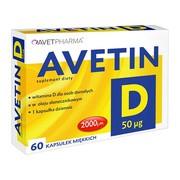 Avetin D,  50 µg, kapsułki miękkie, 60 szt.