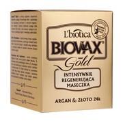 Biovax Glamour Gold, Argan & Złoto 24K, intensywnie regenerująca maseczka do włosów, 125 ml