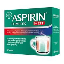 Aspirin Complex Hot, 500 mg+30 mg, granulat w saszetkach, 10 szt.