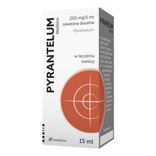 Pyrantelum, (250 mg / 5 ml), zawiesina doustna, 15 ml