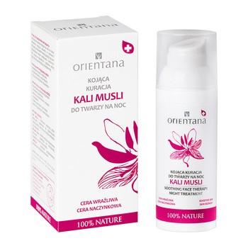 Orientana, kojąca kuracja Kali Musli do twarzy na noc, 50 ml