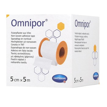 Przylepiec Omnipor, 5 m x 5 cm, 1 szt.