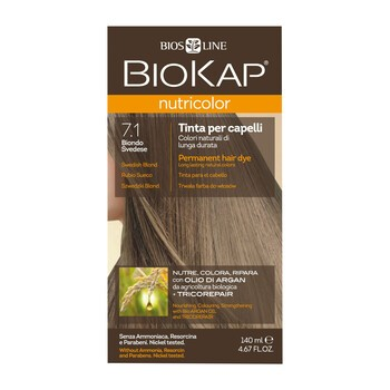 Biokap Nutricolor, farba do włosów, 7.1 szwedzki blond, 140 ml