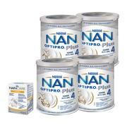 Zestaw 4x Mleko Nan Optipro Plus 4 + NanCare Vitamin D