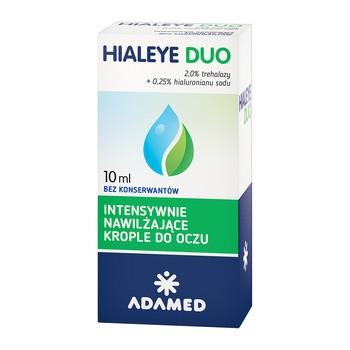 Hialeye Duo, intensywnie nawilżające krople do oczu, 10 ml