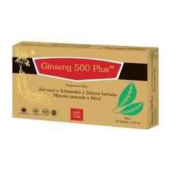 Ginseng 500 plus, płyn doustny, fiolki, 10 ml x 10 szt.