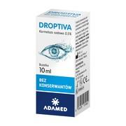 Droptiva, nawilżające krople do oczu, 10 ml