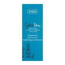 Ziaja GdanSkin, woda&skóra, kolagenowy krem na noc wygładzający zmarszczki, 50 ml