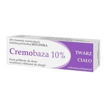 Cremobaza 10%, krem półtłusty z mocznikiem, 30 g