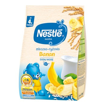 Nestle, kaszka mleczno-ryżowa, banan, 230 g