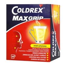 Coldrex MaxGrip, proszek do sporządzania roztworu doustnego w saszetkach, smak cytrynowy, 10 szt.