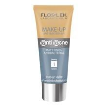FlosLek Laboratorium Anti Acne, podkład, make-up antybakteryjny, jasny (1), 30 ml
