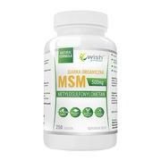 Wish, Siarka organiczna msm 500 mg, tabletki, 250 szt.