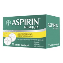 Aspirin Musująca (Ultra Fast), 500 mg, tabletki musujące, 12 szt.